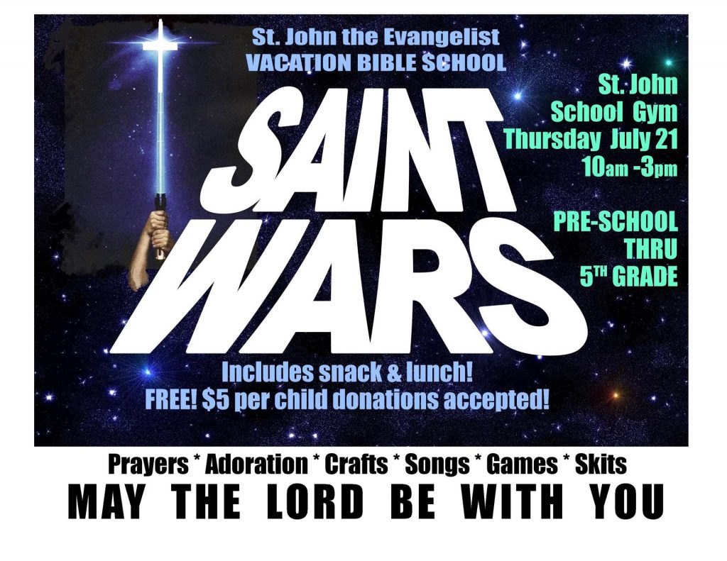 Saint Wars VBS ad